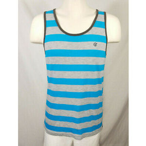 🌸Vans Off the Wall Gray Blue Striped Tank Top